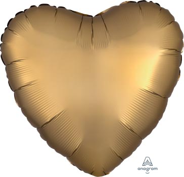 18:Satin Luxe Gold Sateen Heart