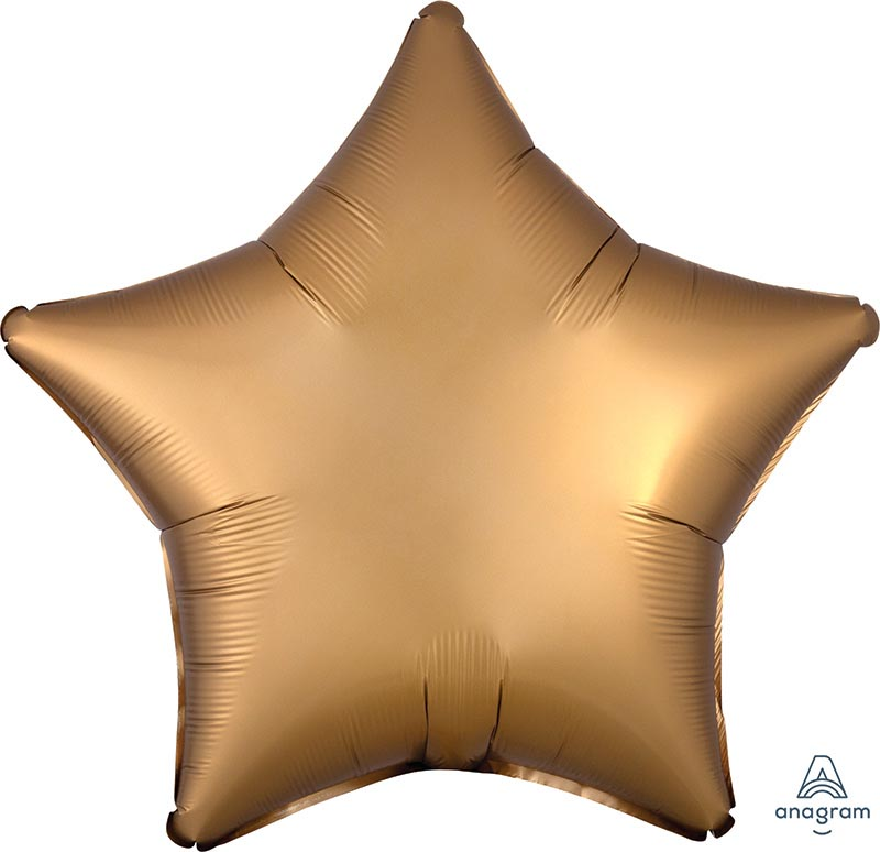 18:Satin Luxe Gold Sateen Star