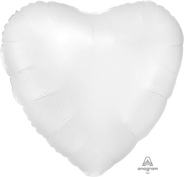 18:Satin Luxe White Satin Heart
