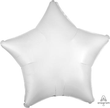 18:Satin Luxe White Satin Star
