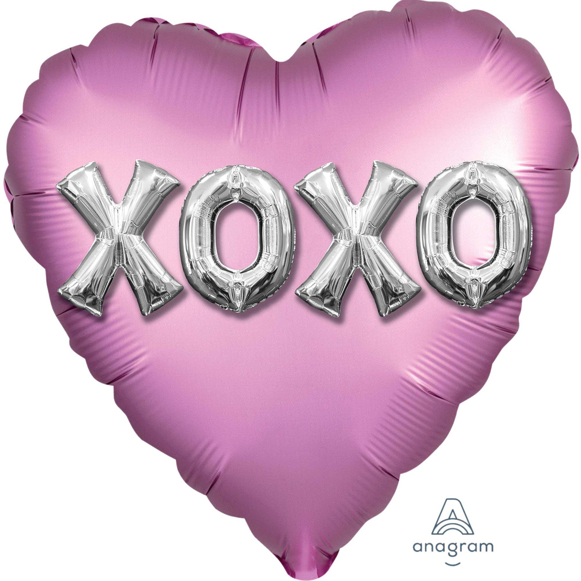 18:Satin XOXO Balloon Letters