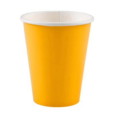 CU:Sunshine Yellow Paper Cups 8
