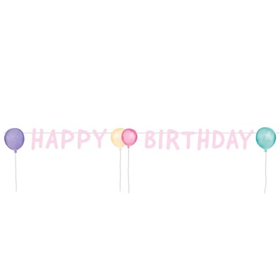 BA:Happy Birthday Pastel Letter Banner