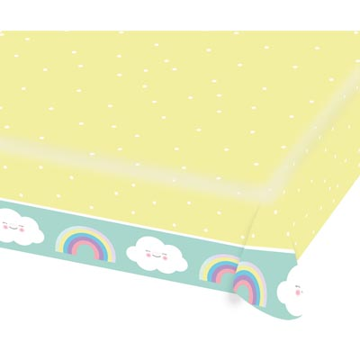 TC:Rainbow & Cloud Paper Tablecloth
