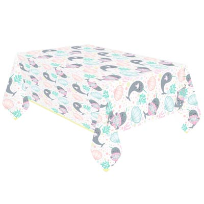 TC:Narwhal Plastic Tablecloth